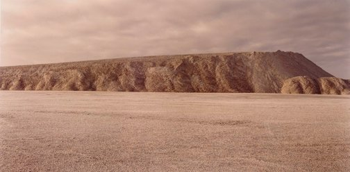 An image of Crushed gypsum pile, Ballast Head by Ed Douglas