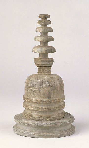 An image of Votive stupa with base by