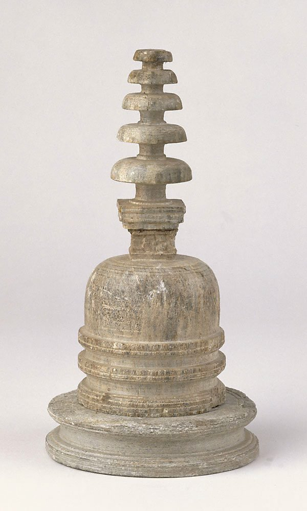 An image of Votive stupa with base