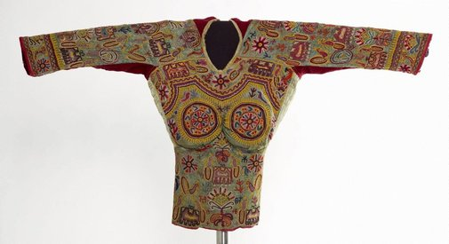 An image of Short embroidered 'choli' (blouse) by