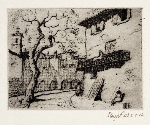 An image of Plaza Soller, Majorca by Lloyd Rees