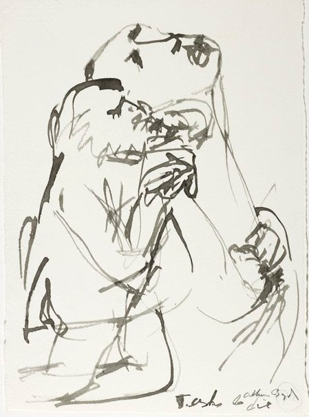An image of (Illustration for 'Jonah' p.93) by Arthur Boyd