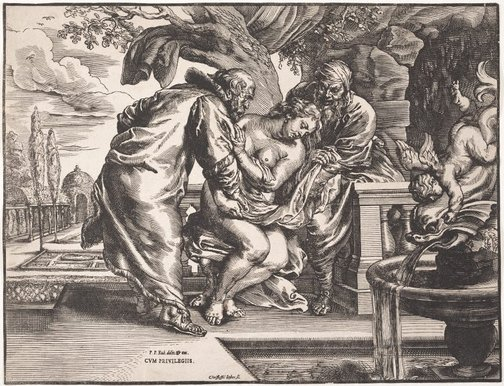 An image of Susanna and the elders by Christoffel Jegher, after Sir Peter Paul Rubens