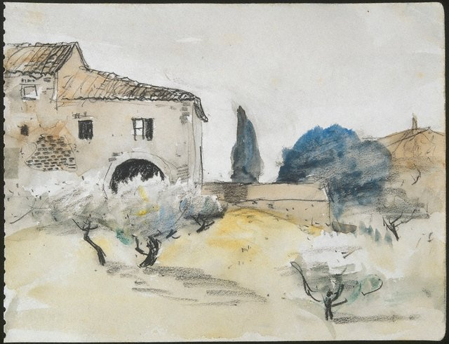 An image of Tuscan farmhouse, San Gimignano