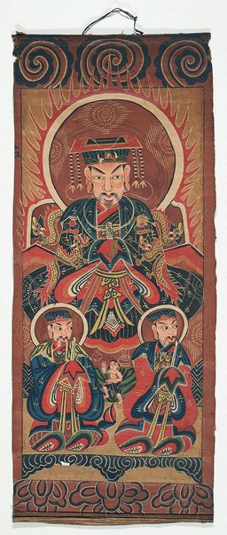 An image of Ceremonial painting - Shengzhu (Master of the Saints) by Yao people