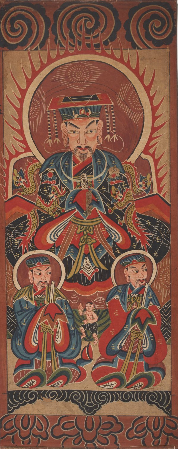 An image of Ceremonial painting - Shengzhu (Master of the Saints)