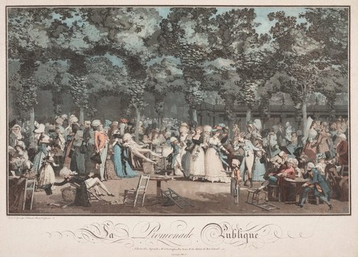 An image of The public promenade by Philibert-Louis Debucourt
