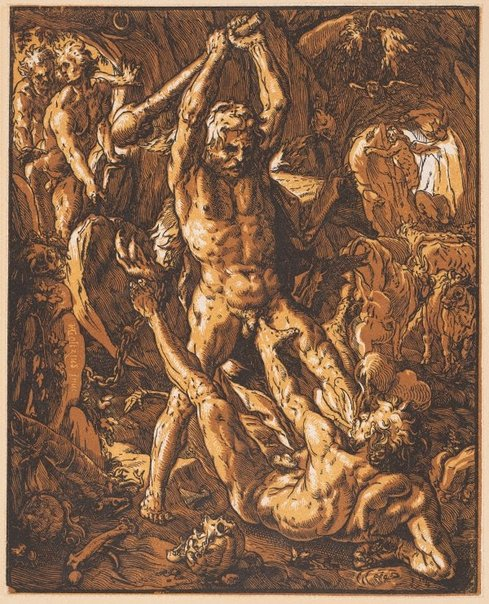 An image of Hercules and Cacus by Hendrick Goltzius