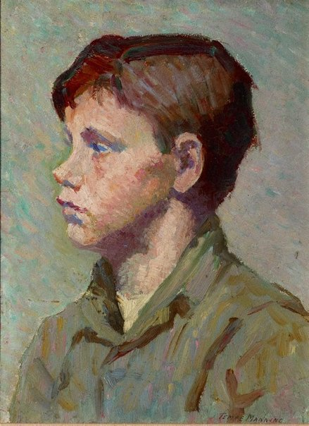 An image of (Portrait of a boy) by Tempe Manning