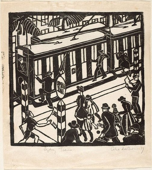 An image of Sydney trams by Ailsa Lee Brown