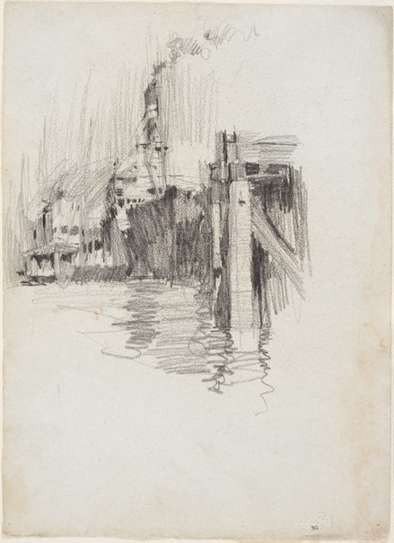 An image of recto: Ship at wharf, Brisbane River verso: Study from a plaster cast by Lloyd Rees