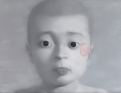 An image of The boy who sticks out his tongue by ZHANG Xiaogang