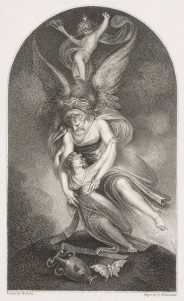 An image of The apotheosis of Penelope Boothby by Michele Benedetti, after Henry Fuseli