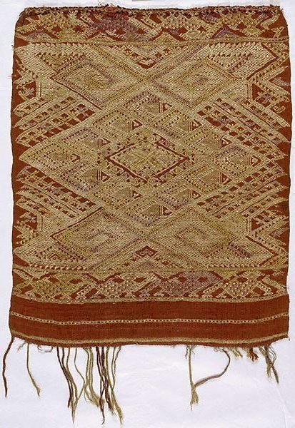 An image of End panel of a shawl ('phaa biang') by