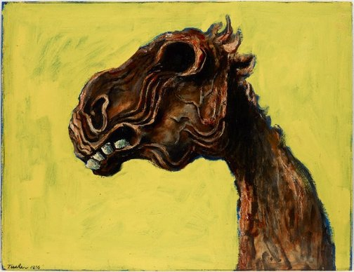 An image of Apocalyptic horse by Albert Tucker
