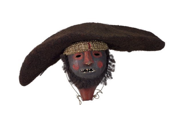 An image of Gourd head with human hair wig