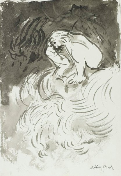 An image of (Figure sitting on a wave) by Arthur Boyd