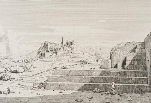 An image of Athens: the Pnyx, the Areopagus, the Acropolis and Hymettus by Théodore d'Aligny