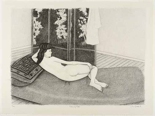 An image of Reclining nude by John Brack