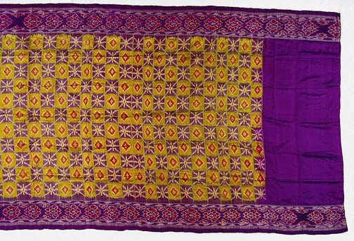 An image of 'ikat' sari by
