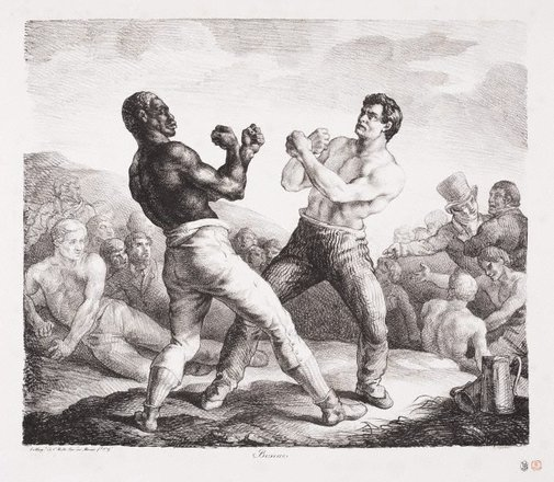 An image of The boxers by Théodore Géricault