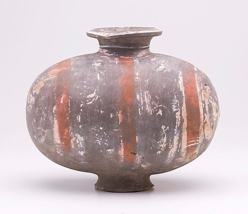 An image of Flask with painted decoration by