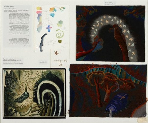 An image of Study panel for Creation landscape: Darkness and light by William Robinson