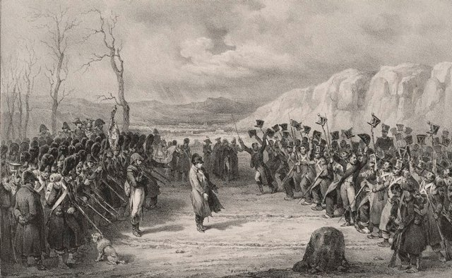 An image of Napoleon's return from the island of Elba
