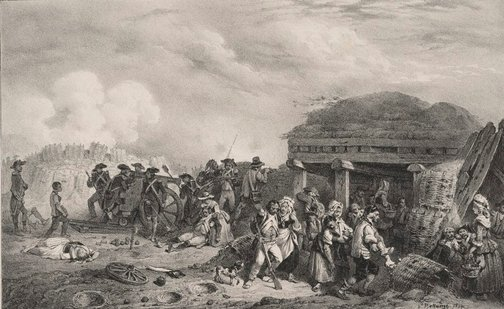 An image of The siege of Landrécies by Hippolyte Bellangé
