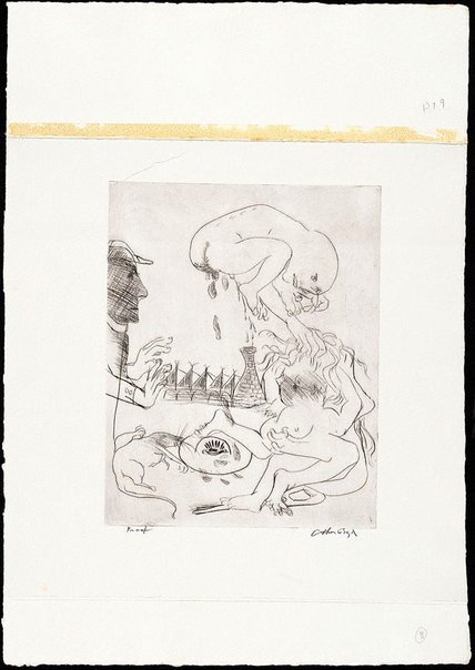 An image of (Illustration for 'Jonah' p.14) by Arthur Boyd