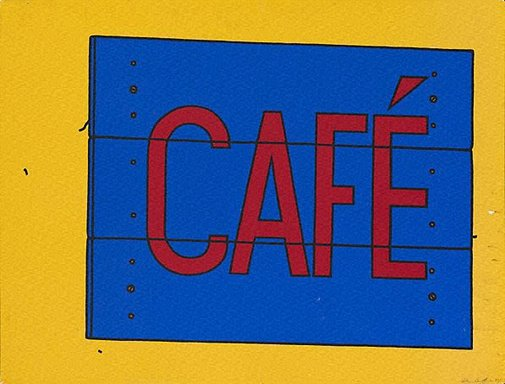 An image of Cafe by Patrick Caulfield