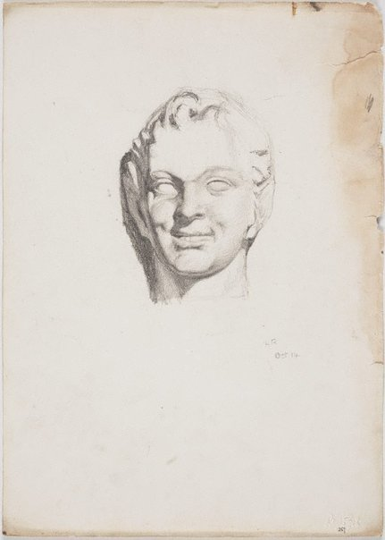 An image of recto: 'Pan' from cast verso: Petrie's quarry by Lloyd Rees