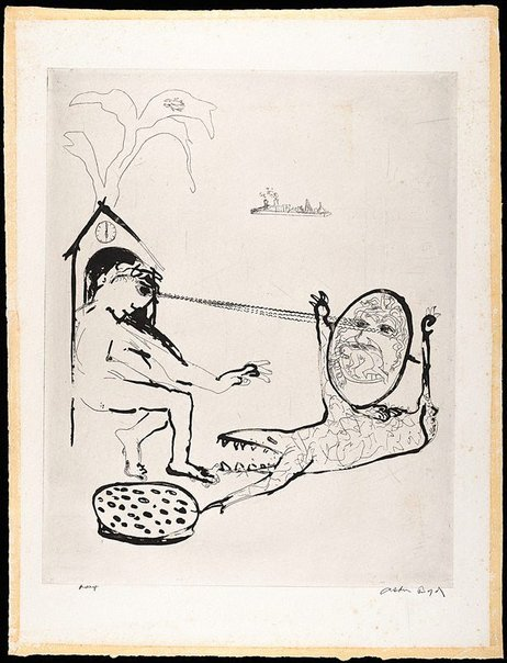 An image of (Illustration for 'Jonah' p.101) by Arthur Boyd