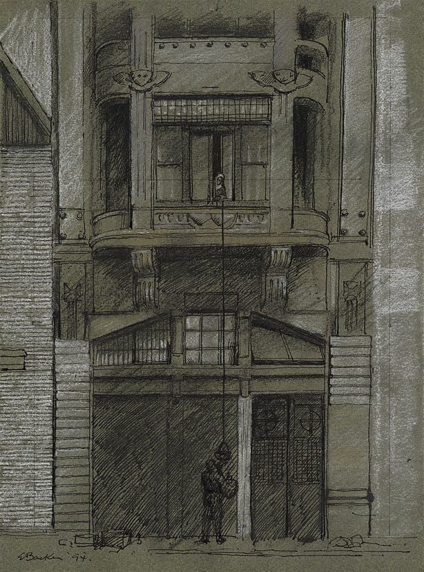 An image of The green house, Pera, Istanbul (Study for 'Façade')