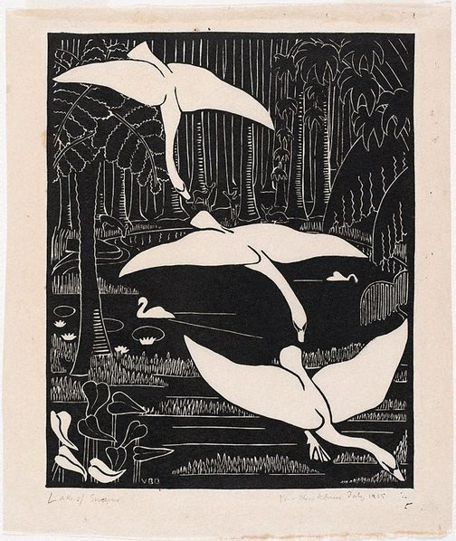 An image of Lake of swans by Vera Blackburn