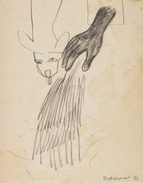 An image of (Hand and water) by Charles Blackman