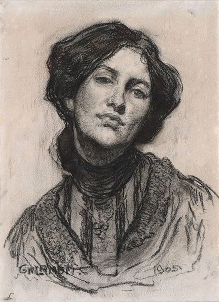 An image of Portrait of Thea Proctor by George W Lambert