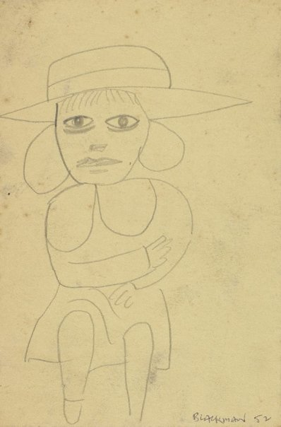An image of (Schoolgirl) by Charles Blackman