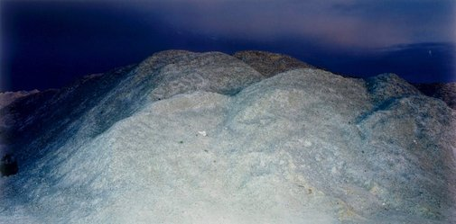 An image of Gypsum pile at old mine site 2 by Ed Douglas