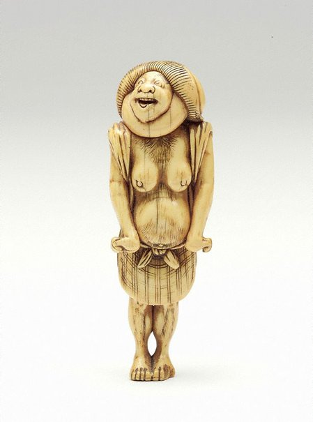 An image of Netsuke in the form of 'Kumosuke' (Tôkaidô porter) by