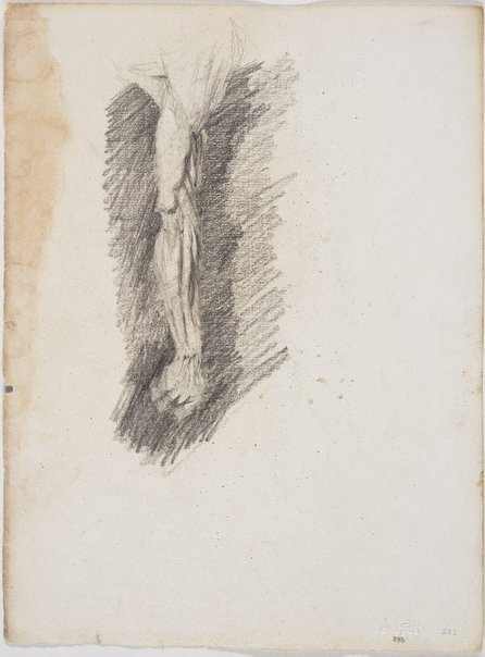 An image of recto: Study of a man's arm verso: Pan, from plaster cast by Lloyd Rees