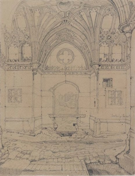 An image of Interior of a Chapel of Our Lady, The Mount King's Lynn, Norfolk by John Sell Cotman