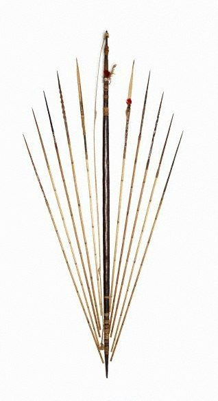 An image of Yanda (bow) and timu (arrows) by
