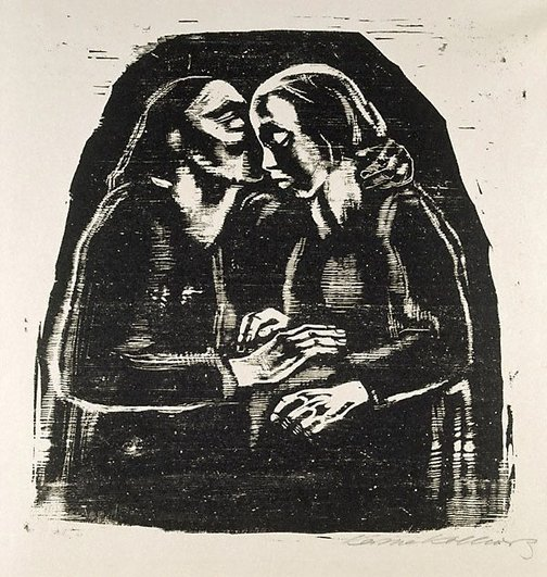 An image of Maria and Elisabeth by Käthe Kollwitz