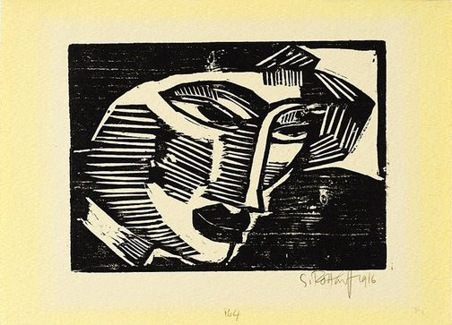 An image of Head of a woman by Karl Schmidt-Rottluff
