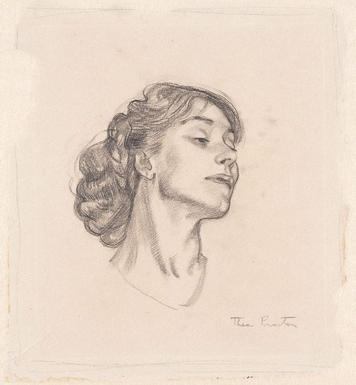 An image of (Woman's head, profile) by Thea Proctor