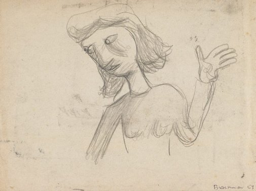 An image of (Waving woman) by Charles Blackman
