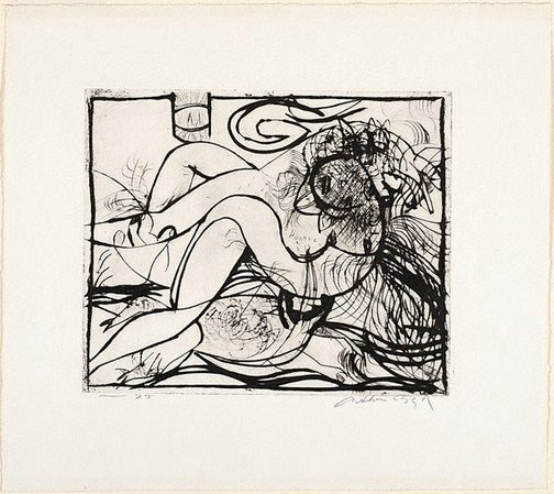An image of Lovers below 'Brasso' tin by Arthur Boyd