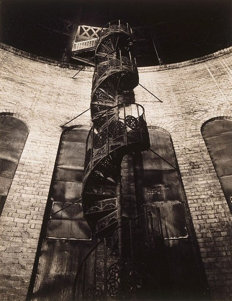 An image of Iron stairway, Q.V. Dome by Max Dupain
