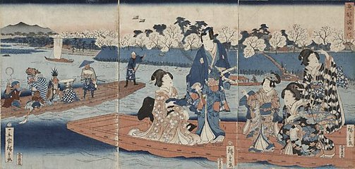 An image of Sumida River of the eastern capital by Suzuki/Utagawa HIROSHIGE II